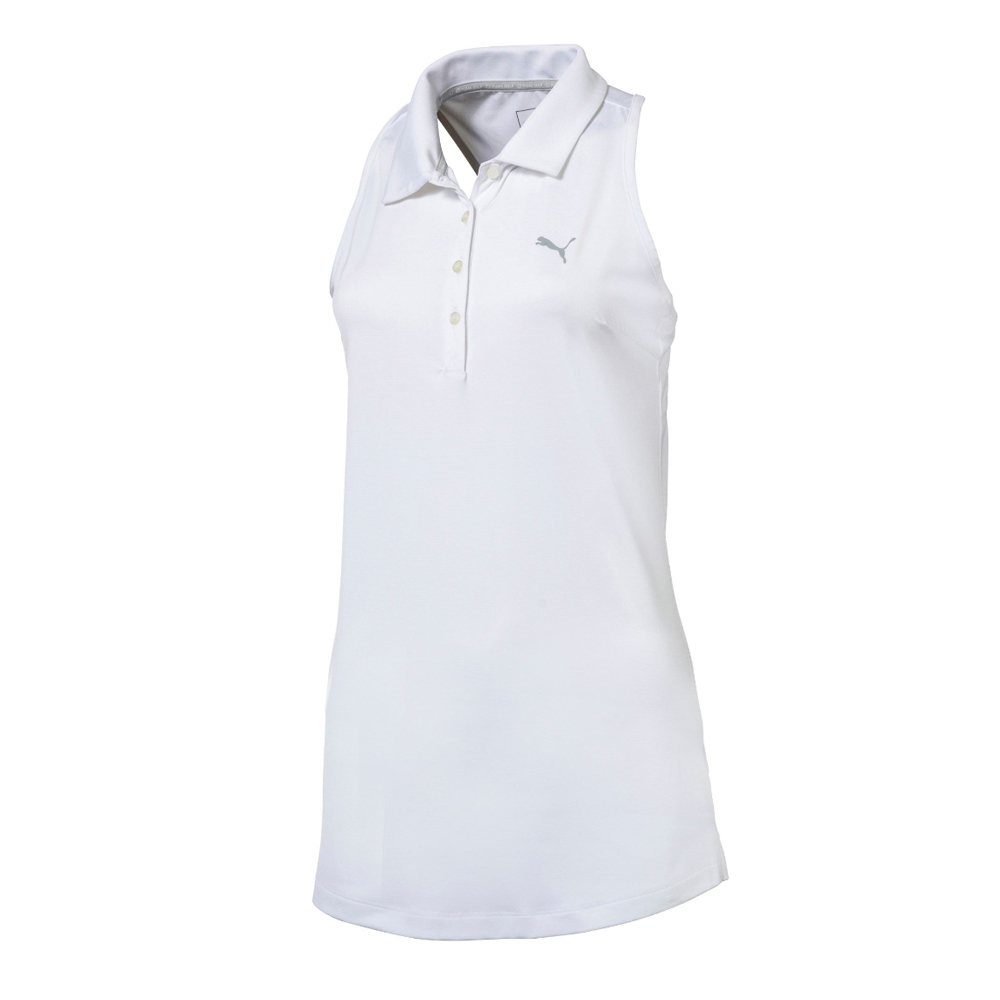 d5b7d767c907ad Details about Women s PUMA Racerback Golf Polo Bright White XS